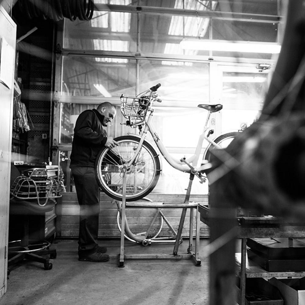 L'atelier des vélos à la RTCR - RTCR